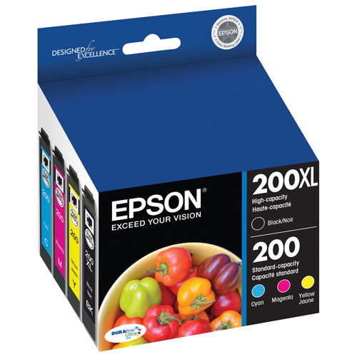 Epson 200 CMYK Ink (T200XL-BCS) - 4 Pack
