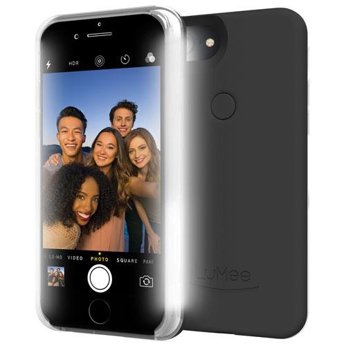 Étui rigide ajusté Two à DEL de LuMee pour iPhone 8 Plus/7 Plus/6S Plus/6 Plus - Noir