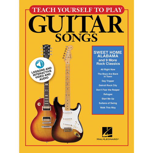 Hal Leonard Teach Yourself Guitar Songs Music Book - Rock