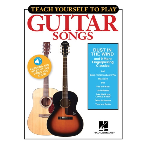 Recueil Teach Yourself to Play Guitar Songs de Hal Leonard - Classiques avec fingerpicking