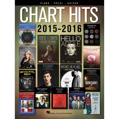 Livre de musique Hal Leonard Chart Hits 2015-2016 Piano/Guitar/Vocals