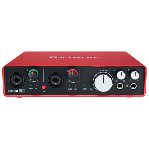 Interface audio USB à 6 entrées/6 sorties Scarlett 6i6 MK2 de Focusrite