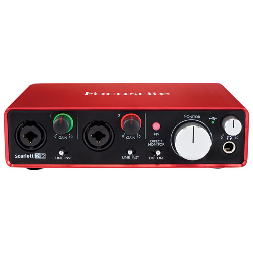 Focusrite Scarlett 2i2 MK2 2-In/2-Out USB Audio Interface