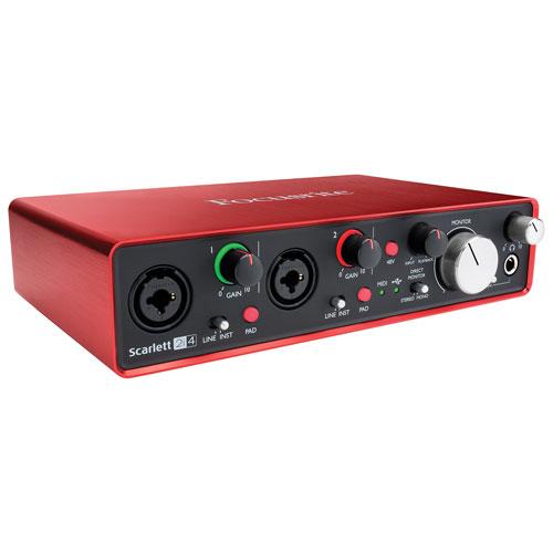 Focusrite Scarlett 2I4 MK2 2-In/4-Out USB Audio Interface