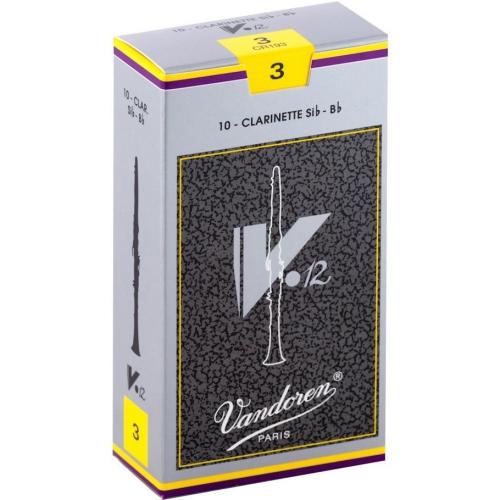 Vandoren V12 Bb Clarinet Reeds - #3, 10 Box