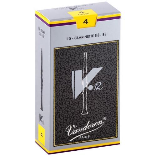 Vandoren V12 Bb Clarinet Reeds - #4, 10 Box