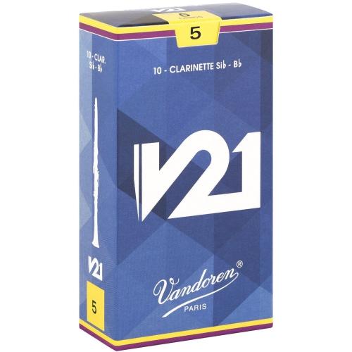 Vandoren V21 Bb Clarinet Reeds - #5, 10 Box