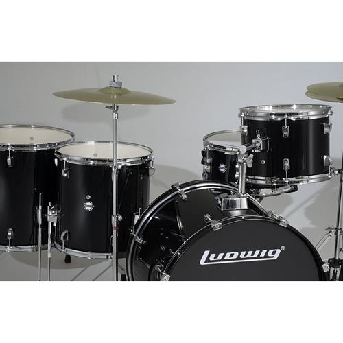 """Accent Fuse Drum Kit with Hardware and Cymbals - 10""""/12""""/14""""/20""""/SD - Black"""