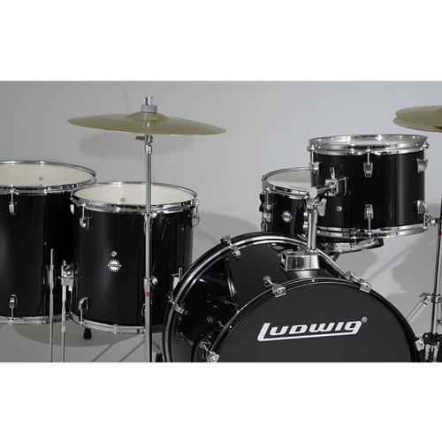 "Accent Drive Series Drum Kit with Hardware and Cymbals - 10""/12""/16""/22""/SD - Black"