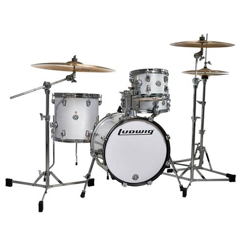 Ludwig Breakbeats Drum Kit - White Sparkle