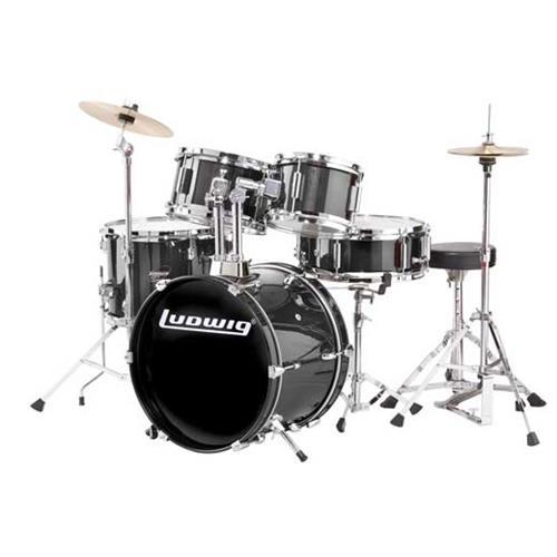 Junior 5 Piece Drum Kit - Black