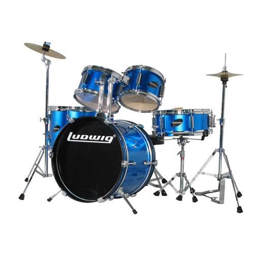 Ludwig Junior 5-Piece Drum Kit - Throne, Cymbals, with Hardware, Blue