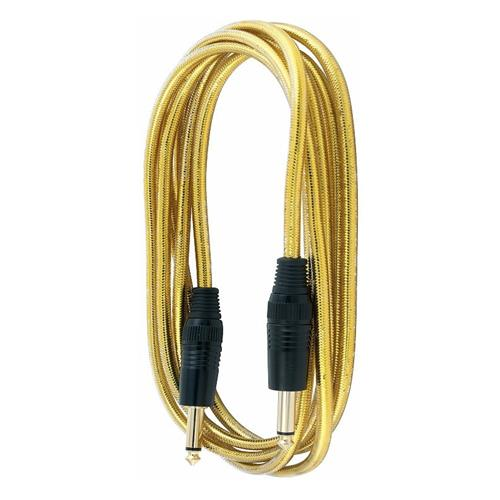 """RockCable RCL-30205D7G Straight 1/4"""" Guitar / Instrument Cable - 5m Gold"""