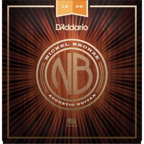 D'Addario Nickel Bronze Acoustic Guitar Strings - Light Top/Medium Bottom