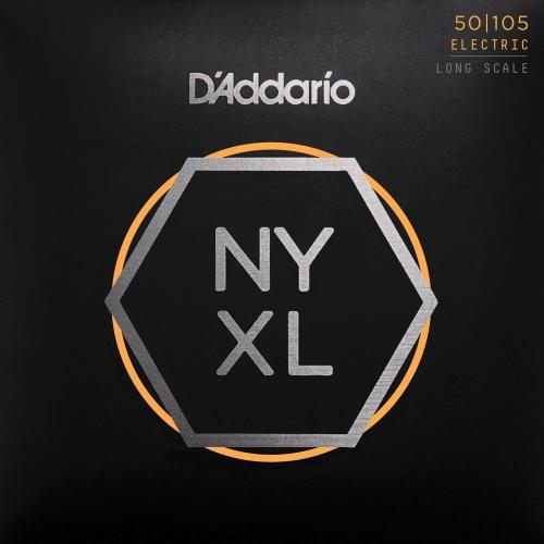 D'Addario NYXL50105 Long Scale Bass Guitar Strings - Medium, 50-105