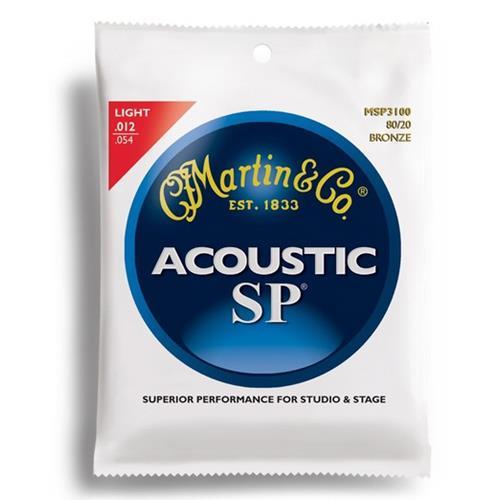 Martin Guitar MSP3100 SP 80/20 Bronze Guitar Strings - Light