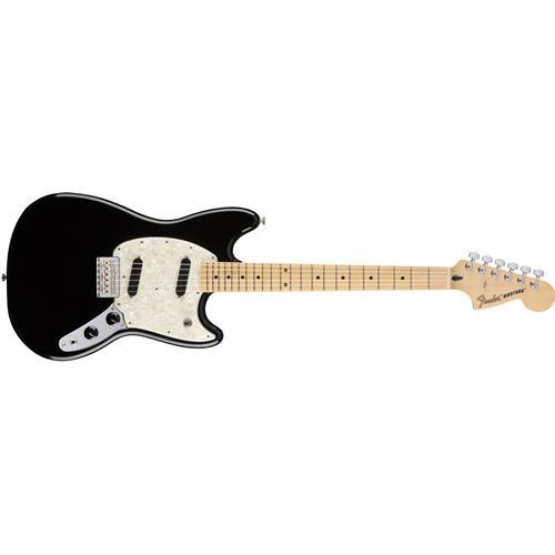 Fender Mustang Electric Guitar - Black, Maple Fingerboard