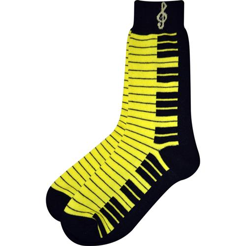Neon Yellow and Black Keyboard Socks