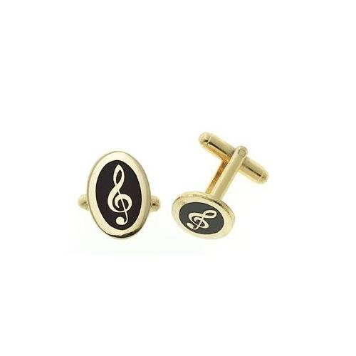 Cuff Links Aim G-Clef Oval