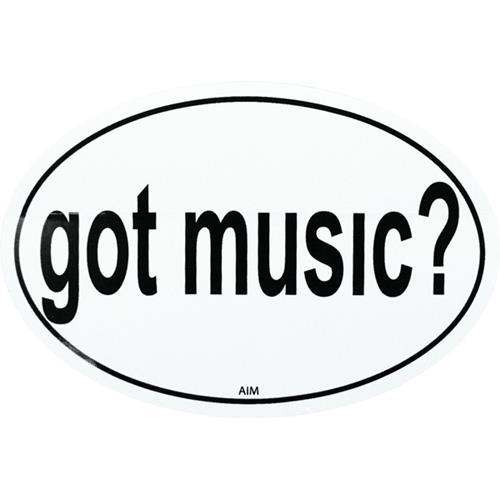 Sticker Aim Got Music - Oval