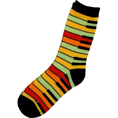 Socks Aim Yellow Rainbow Keyboard