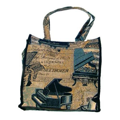 """Piano Tapestry 12"""" Tote"""
