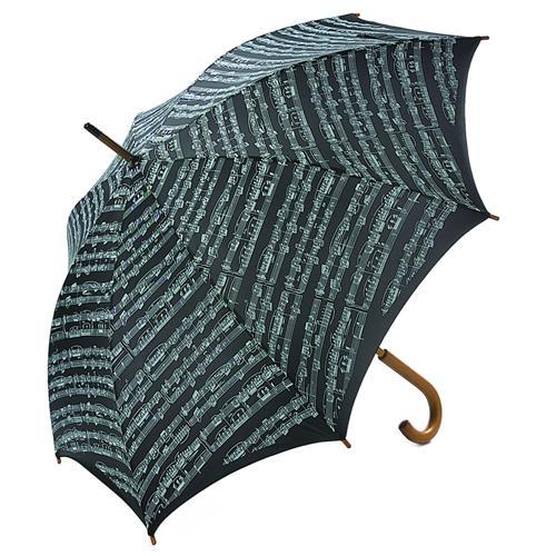 Umbrella Aim Exec Wood Handle Sheet Music Black
