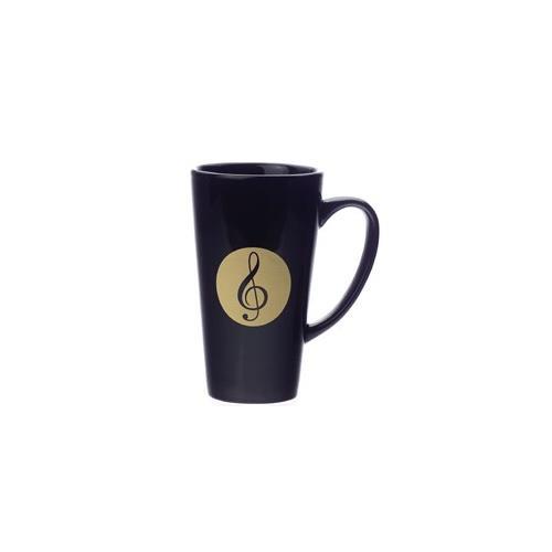 Mug Aim Latte G-Clef Black Large 16 Oz.