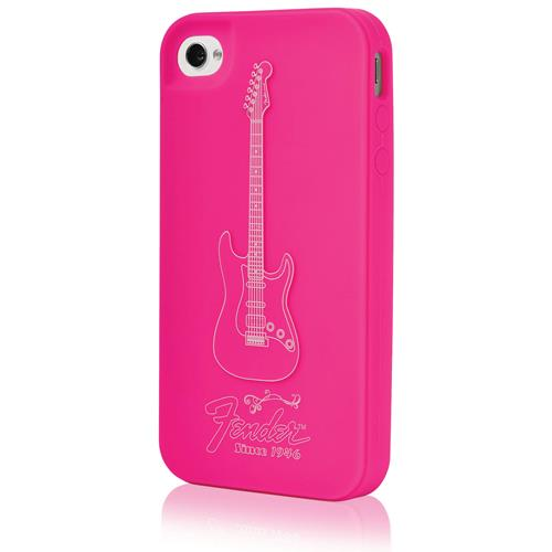 Fender iPhone 4 Protective Silicone Case - Magenta Pink