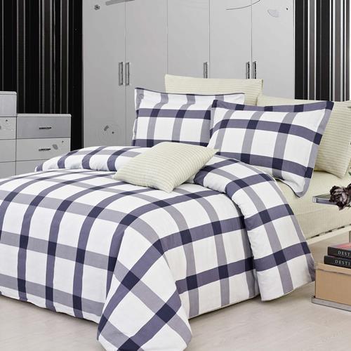 North Home Mancheste 100% Cotton 4 PC Duvet Cover Set (King)