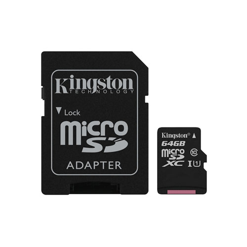 Carte mémoire microSDXC de 45 Mo/s 64 Go de Kingston