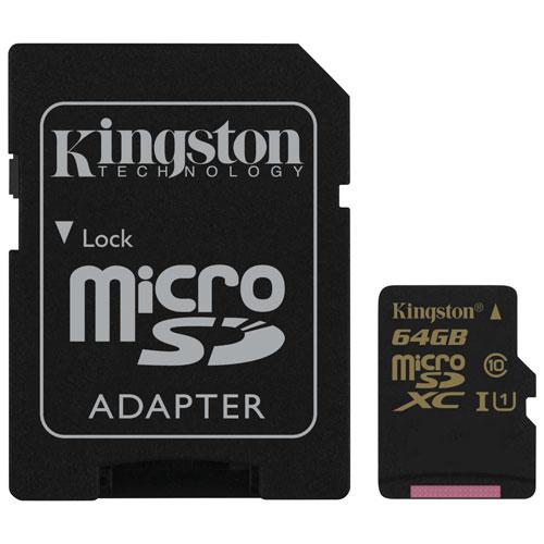 Kingston 64GB 90MB/s microSDXC Class 10 UHS-I Memory Card