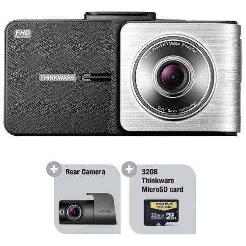 Caméra de tableau de bord avec écran ACL 2,7 po 1080p X500D avec GPS et caméra arrière de Thinkware