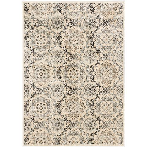 "Rosalyn Cream, Ivory Viscose Rug 5'3"" x 7'3"""