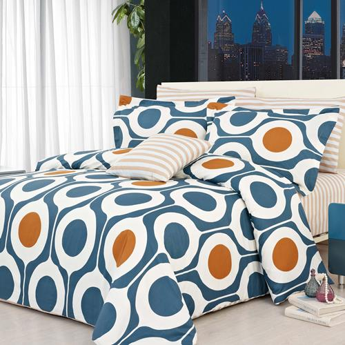 North Home Leeds100% Cotton 4 PC Duvet Cover Set(Queen)