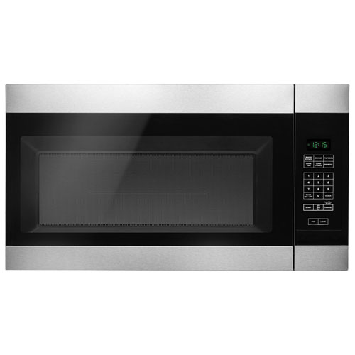 Amana Over-the-Range Microwave - 1.6 Cu. Ft. - Black-on-Stainless