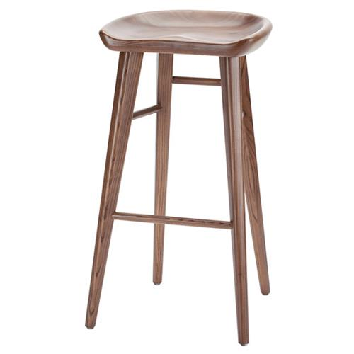 Surprising Bar Counter Stool In Ash Stained Walnut Andrewgaddart Wooden Chair Designs For Living Room Andrewgaddartcom