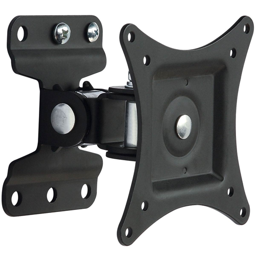 """GlobalTone Full Motion TV Wall Mount for Flat Screen PLASMA LCD LED Television or Computer Monitor 13"""" to 30"""" Swivel"""