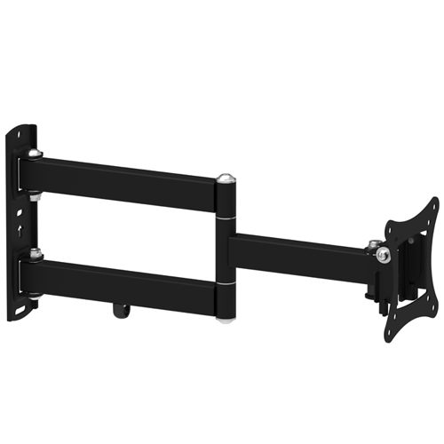 "GlobalTone Full Motion TV Wall Mount for Flat Screen PLASMA LCD LED Television or Computer Monitor 10"" to 27"" Swivel Arm"