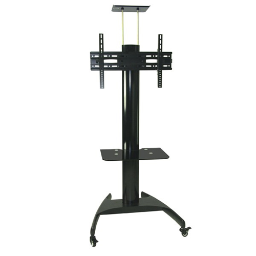 "GlobalTone Rolling TV Cart Stand Mobile Trolley for LED LCD Plasma 32"" to 63"" Commercial"