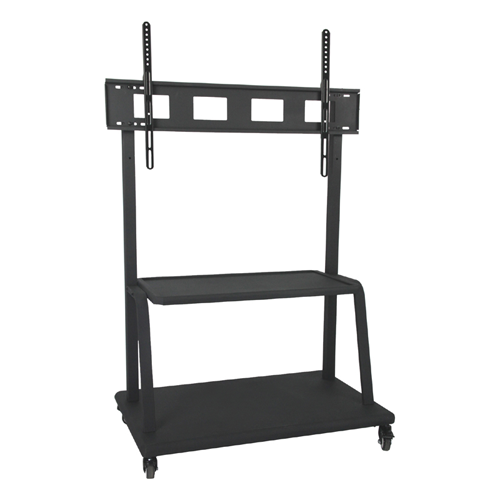 "GlobalTone Rolling TV Cart Stand Mobile Trolley for Big LED LCD Plasma 55"" to 110"" Heavy Duty"