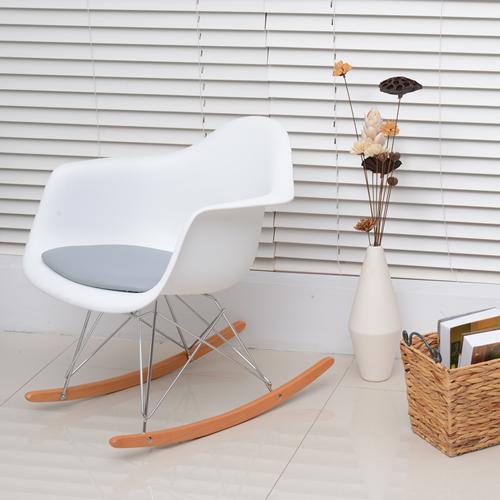HOMCOM Set of 2 PU Eames Style Rocking Chair White