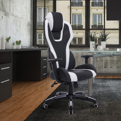 HOMCOM Executive Office Chair Black/White