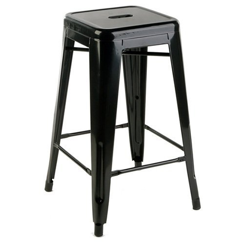 Astounding Occ 1 Tolix Style Backless Metal Industrial Stack Counter Height Stool Stackable Cafe Counter Stools Black Gmtry Best Dining Table And Chair Ideas Images Gmtryco