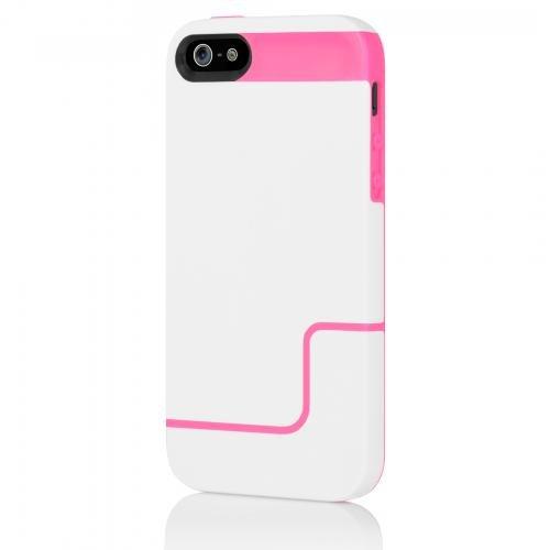 Incipio EDGE PRO for iPhone 5/5s/SE - White / Neon Pink