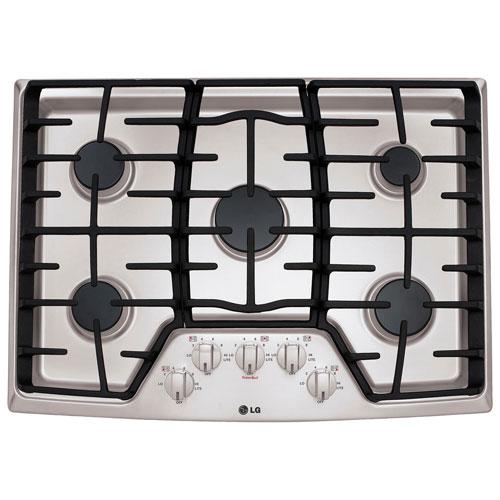 Lg 30 5 Burner Gas Cooktop Lcg3011st Stainless Steel Cooktops