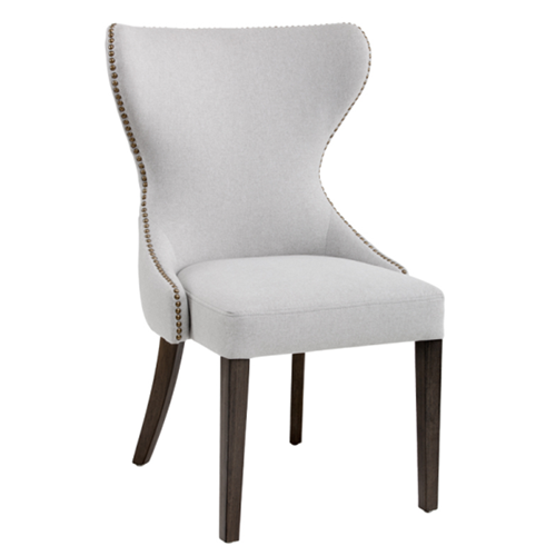 Excellent Button Tufted Back Dining Chair In Light Grey Best Buy Canada Creativecarmelina Interior Chair Design Creativecarmelinacom
