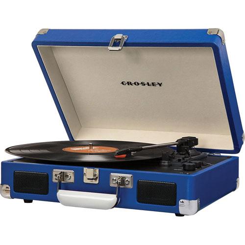 Tourne-disque portatif à entraînement par courroie Cruiser de Crosley - Bleu