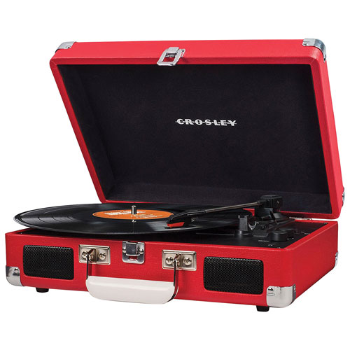 Crosley Cruiser Belt Drive Portable Turntable - Red
