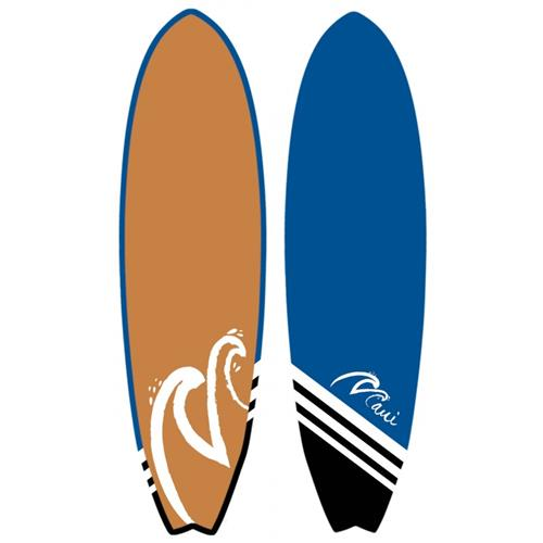 """PLANCHE DE SURF (SUP116) - Bleu et Gris - 6'4"""" 20' 7/8"""" x 2' 9/16"""""""